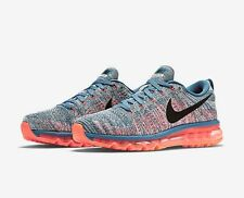 NEW NIKE FLYKNIT AIR MAX OCEAN FOG/CRIMSON/SAIL 620469-408 RACER MC SZ 8