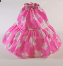 BARBIE SKIRT, GENUINE PURPLE TAG, BRIGHT PINK AND WHITE COTTON FLORAL