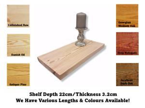 Wall Shelf Made From Redwood Pine 22cm Deep Handmade Chunky Rustic Scaffold
