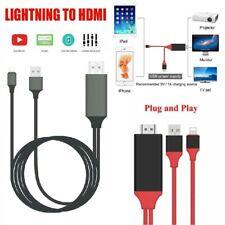 Reino Unido Lightning A Hdmi Cable Av Para Tv Cable Hdmi 1080P USB Cargador Para iPhone iPad