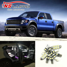 10pcs Interior LED Light Bulbs Package Kits White for Ford F150 Raptor 2011-2014