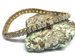 """Ross-Simons 925 Sterling Silver Gold Plated Diamonds 7.25"""" Tennis Bracelet"""