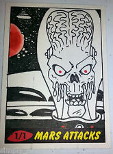 Mars Attacks 2012 topps Heritage Sketch Card Wilson Ramos