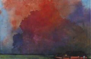 Emil Nolde Farm under storm clouds Giclee Art Paper Print Poster Reproduction
