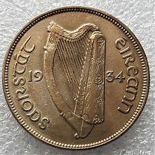 Ireland   Rare 1934  Irish  HALF  CROWN  75% Silver  Mintage  480,000 only