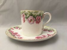 More details for vintage aynsley rose cup and saucer floral roses design