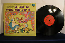 Alice In Wonderland, Walt Disney, Disneyland Records 3909, 1969, Book,Children's