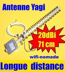 Antenne Wifi extérieur Yagi 20 dBi très haut gain, raccord RP-SMA