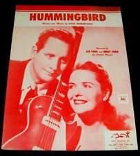 LES PAUL & MARY FORD 1955 PHOTO & MUSIC SHEET * HUMMINGBIRD