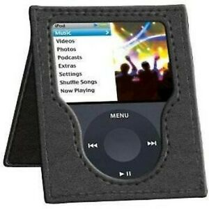 itec Leather Case with Viewing Stand for iPod nano 3rd Generation Black T1101