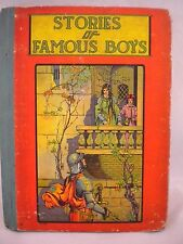 Stories of Famous Boys and Early America 1920 Viola Jacobson ill. Neil O'Keeffe