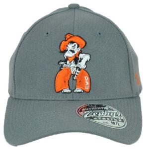 NCAA Zephyr Oklahoma State Cowboys OSU Flex Fit Stretch Small Gray Hat Cap