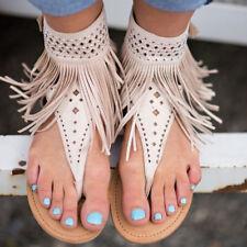 Damen Strand Sandalen Sandaletten Zehentrenner Flip Flops Riemchen Schuhe Flach
