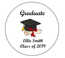 Personalised Graduation Labels University College School Leaver Matte Stickers