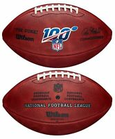 """Wilson NFL 100 """"The Duke"""" Official NFL Leather Football - New in Retail Box"""