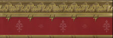 Victorian Architectural Red and Gold Trim WALLPAPER BORDER