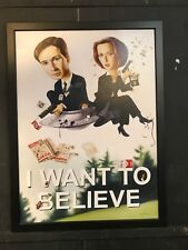 X-Files I want to Believe Movie Framed Canvas Art NYCC 2017 Exclusive