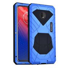 iMatch Metal Bumper Outdoor Case Cover Kickstand fo Motorola Moto Z4 Z3/ Z3 Play