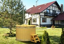 Badezuber Hot Tub Badetonne Badebottich Badefass 2,00 m mit Innenofen / Bausatz