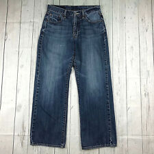 Lucky Brand jeans womens 30 medium wash relaxed straight distressed short inseam