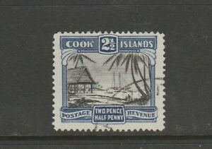 Cook Islands 1932 No Wmk 2 1/2d P14 FU SG 102a