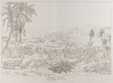 Gravure ancienne 1876 : Bataille d'Aboukir. Égypte. Napoléon Bonaparte