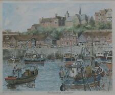 FOLKESTONE HARBOUR - Limited Edition Print - Signed PHILIP MARTIN