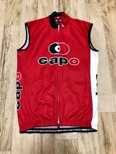 Capo Cycling Bicycle Jersey Made In Italy 3 Pocket Small Red/Black Unisex