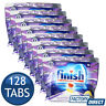 8 x FINISH QUANTUM POWERBALL DISHWASHING DISHWASHER TABLETS LEMON SPARKLE 16PK
