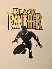 Gold Black Panther Mural Vinyl Art  Removable Home Bar Wall Decal Stickers 2pc