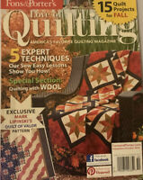 Fons & Porter's Love of Quilting Magazine Sept/Oct 2012 Quilt Projects for Fall