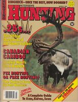 Vtg Petersen's Hunting Magazine Mar 1982 Canadian Caribou .25 Cal Ammo Virginia