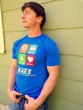 CSX TRAINS Blue Cotton Blend Size L T-Shirt