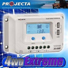 PROJECTA SOLAR CONTROLLER 20AMP SMART AUTOMATIC 4 STAGE 12V 24V LCD SCREEN SC220