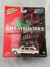 Johnny Lightning GhostBusters Ecto-1 1959 Cadillac Ambulance - VF minus Card