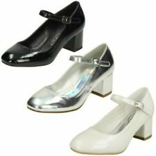 Girls Spot On Block Heeled 'Shoes'