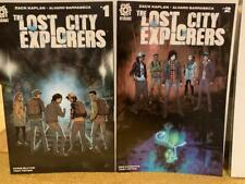lost city explorers #1 A, 2 Aftershock Kaplan NM First print Optioned universal