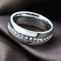 Verlobungsring Ring Edelstahl Swarovski Strass Gr.56, 18, 8 Neu Silber
