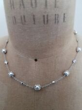 Nadri Crystal Silver Gray Pearl, cubic Station Infiniti Necklace, Bloomingdale's