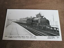 Pamlin prints postcard-Steam Locomotive -Steam at Eltham - Down Kent Coast train