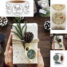 500Pcs Thank You Sticker Craft Packaging Seals Sticker Label Handmade Cute Paper