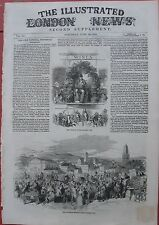 1852 Antique Engravings - IRISH INDUSTRIAL EXHIBITION - Patrick Street, Cork