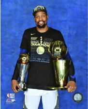 Kevin Durant with the MVP & Finals Trophies 2018 NBA Finals Champions 8x10 Photo