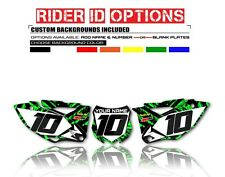 2009 2010 2011 KAWASAKI KXF 450  NUMBER PLATE BACKGROUNDS GRAPHIC DECAL KIT