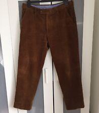 "RRP £45 New Shop Clearance Mens Farah Corded 50/"" Waist 33/"" Leg Brown Trousers"