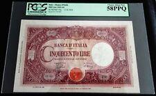 @@@@@ Italy L 500 lire Barbetti 1944 a UNC PCGS PPQ graded  @@@@@