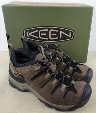 KEEN 1009513 MEN'S GYPSUM SHITAKE BRINDLE HIKING SHOES SIZE 9D NEW IN BOX