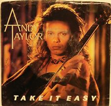 """Andy Taylor """"Take It Easy"""" / """"Angel Eyes"""" 7"""" Record 1986 Picture Sleeve VG+ Cond"""