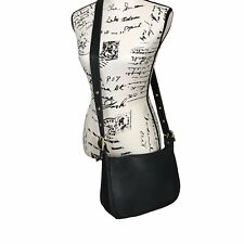 EUC Black Coach Patricia Crossbody Original Messenger Flap Bag Saddlebag LOOK!