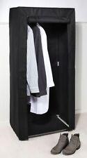 Penderie Placard pour camping cabinet Matériau Armoire Noir 70x148 cm